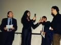 Maria Grazia Cucinotta durante la premiazione