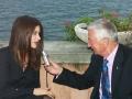Giornalisti parlano con Valentina Cervi